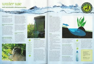 National Allotment Society use BHAF water savings tips in August magazine