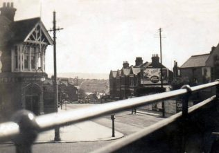 View from tram at Fiveways 1920s