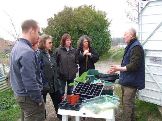 Doug conducts a practical session on seed sowing | Melanie Matthews
