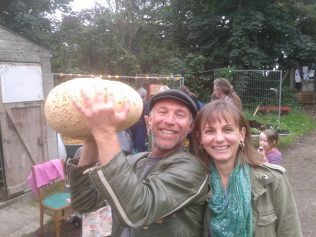 Lucky winners of guess the weight of the pumpkin