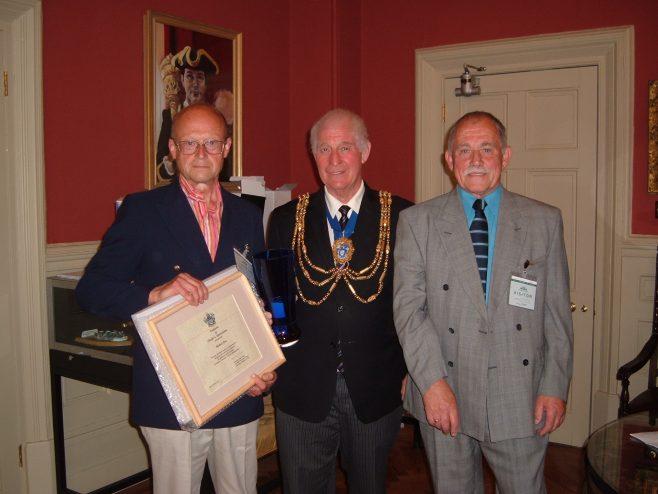 Mike Fearn (recepient) , David Smith (Mayor), John Burns (BHAF chairman) | stella(council)
