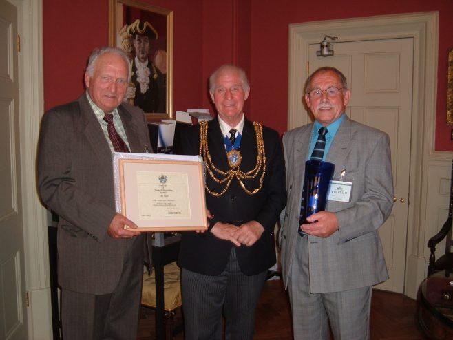 John Smyth(recepient) , David Smith (mayor) , John Burns (BHAF chairman) | Stella (council)