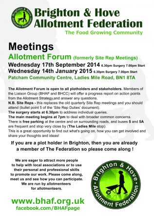 Allotment Forum Meeting
