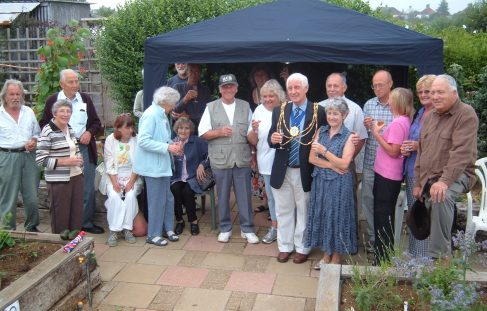 Launch of plots for gardeners with disabilities at the Weald
