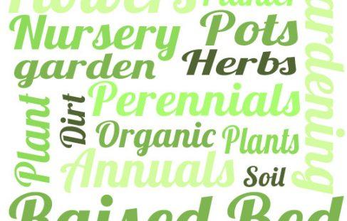 Gardening terminology